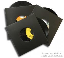 """Copertine CARTONE 300gr per dischi 45 Giri 7"""" Pollici colore NERO- Qtà 10"""