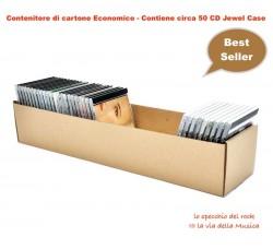 CONTENITORE BOX  SCATOLA di Cartone economica per 50 CD circa.
