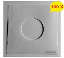 MANICOTTI SFODERATI  di Carta per Dischi 45 Giri Colore BIANCO - Qta' 100