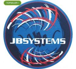 JB  SYSTEMS - Slipmat Tappetino Panno per Giradischi - logo ROSSO  °