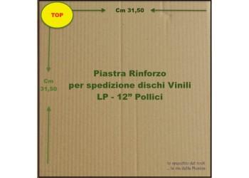 """PIASTRA di Cartone per RINFORZO spedizioni dischi Vinili 33 Giri - 12"""" Pollici"""