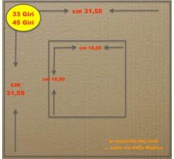PIASTRA di Cartone per RINFORZO spedizioni dischi Vinili 33 Giri - 45 GIRI