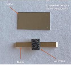 Nuovo  KIT per sostituzione AUDIOCASSETTA di: Molla con Cuscinetto + Scudo
