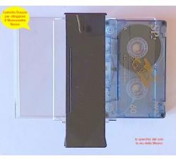 Doppia CUSTODIA apertura a Farfalla per 2 Musicassette Cassette