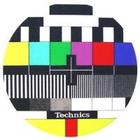 TECHNICS - Tappetino SLIPMAT per GIRADISCHI - logo TV - Qta 1°