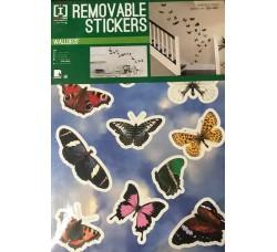 Farfalle colorate  per  pareti - Stickers Riposizionabile Removibile