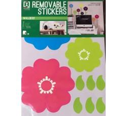 Fiori colorati per  pareti - Stickers Riposizionabile Removibile