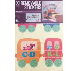 Il treno dell alfabeto - Stickers Adesivo Removibile