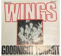 WINGS- GOODNIGHT TONIGHT- Solo Copertina *