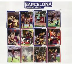 BARCELLONA FOOTBALL STARS- Adesivi Rimovibili - 12 Stickers