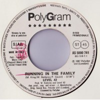 Level 42 / Rossana Casale – Running In The Family / Destino – 45 RPM (Jukebox)