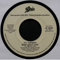 'Til Tuesday / The Stranglers – What About Love / Always The Sun – 45 RPM (Jukebox)