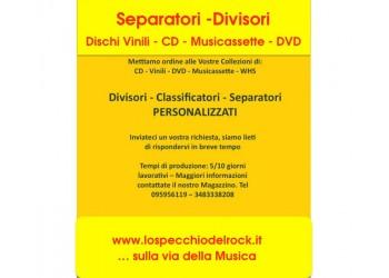 Separatori, Divisori personalizzati, per Vinili, CD, DVD, Bluray, Musicassette