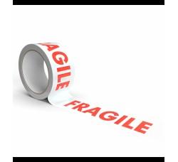 Nastro adesivo con scritta FRAGILE - mt 66 cadauno - Q.ta 1 rotolo