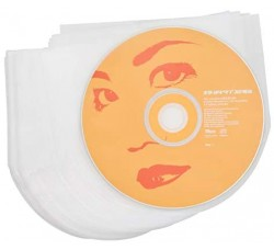 MUSIC MAT - Bustine HDPE per CD - DVD Antistatici, Antigraffio, Antimuffa (Qtà. 100)