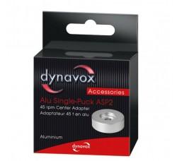 DYNAVOX - Adattatore in alluminio ARGENTO per giradischi