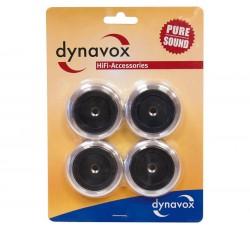 DYNAVOX - Piedini di ALTA Qualità in alluminio 4 pezzi - Colore Argento