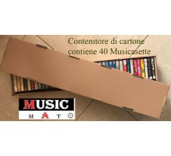 Contenitore scatola per 40 musicassette audio cassette - Q.ta 1