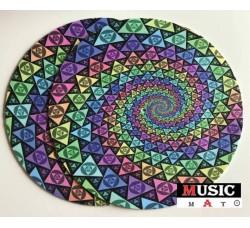 MUSIC MAT - GALM - Tappetino Slipmats  -IPNOTICO  per Giradischi (1) Pezzo