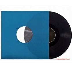 """Buste interne SFODERATI per LP, 12"""" colore BLU con Angolo tagliati - Q.ta 25"""