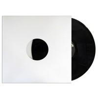 "Buste interne di carta 90gr colore BIANCO per LP / 12"" SFODERATE angoli  retti - Q.ta 25"