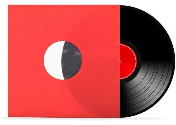 """Buste Interne di carta 80gr FODERATI colore ROSSO per LP / 12"""" - Angoli RETTI - Q.ta 25"""