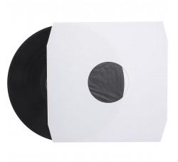 """Buste interne SFODERATI per LP, 12"""" colore BIANCO con Angolo tagliati  - Q.ta 25"""
