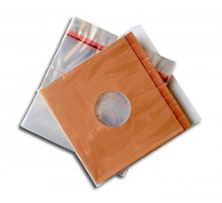 "Buste in PP con FLAP adesivo per dischi Vinili 78 giri - 10"" - Q.ta 50 buste"
