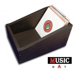 """Contenitore """"MUSIC MAT"""" Box di legno MDF per dischi 45 giri 7"""" pollici - Colore NERO (Q.ta1 Pezzo)"""