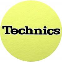 TECHNICS  GIALLO  LOGO NERO - Tappetino Slipmats per giradischi (1) Pezzo