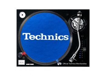 TECHNICS - BLU LOGO BIANCO Tappetino Slipmats per giradischi (1) Pezzo