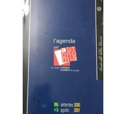 DIARIO AGENDA -  dell'Autonimia - 2000 / 2001  - Cm 20 x14 Circa