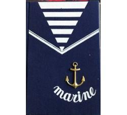 Diario Scolastico Marine -  da Collezione con ancora dorata - Cm 20 x13 Circa