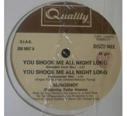 "Slingshot Featuring Kathy Kosins – Me All Night Long - 12"" Max single"