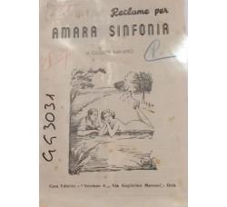 Spartito Musicale - Amara sinfonia - Giuseppe Nanfito
