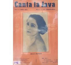 Spartito Musicale - Canta la Java - Ennio Neri e Gius. Bonovolontà