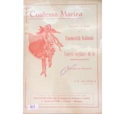Spartito Musicale - Contessa Mariza - Operetta in 3 atti Emmerich Kàlmàn