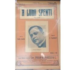 Spartito Musicale - A lumi spenti - Tullio Gentili e E. Tagliaferri