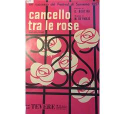 Spartito Musicale - Cancello tra le rose - U. Bertini e M. De Paolis