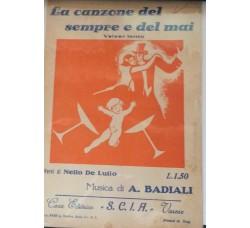 Spartito Musicale -  La canzone del sempre e del mai - A. Baldi