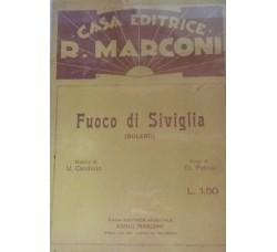 Spartito Musicale -  Fuoco di Siviglia - U. Candiolo e O. Petrini