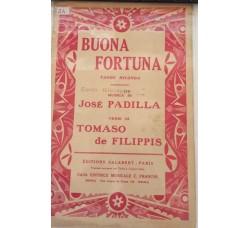 Spartito Musicale - Buona Fortuna - Josè Padilla e Tommaso de Filippis