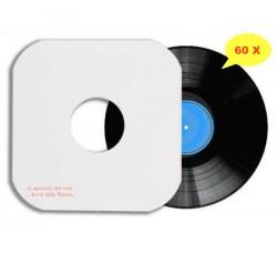 Manicotti di carta Patinata 140 gr per LP (COLORE BIANCO)  Angoli SAGOMATI - Qtà 60
