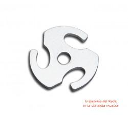 Adattatore formato a Stella per Dischi Vinili 45 giri - Alluminio Colore Silver