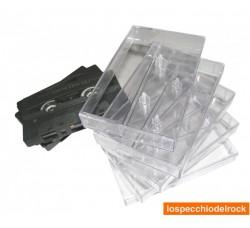 Custodie NUOVE trasparenti per MUSICASSETTE - AudioCassette - Qtà 10