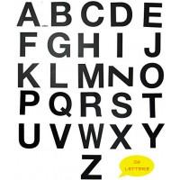 Lettere ADESIVE colore NERO per Divisori o Separatori -  26 Lettere Cm 2.00