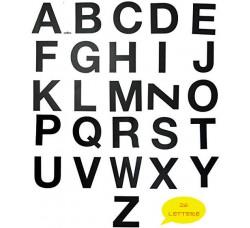 Lettere ADESIVE colore NERO per Divisori o Separatori -  26 lettere