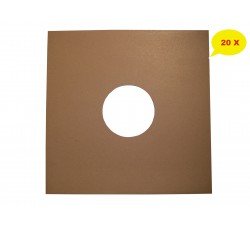 """Copertine colore AVANA per dischi vinili 78 giri – 10"""" Pollici - Qtà 20"""