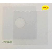SET - Copertina BIANCA + Busta PE per Vinile dischi 78 Giri - Qtà 10