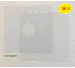 SET - Copertina BIANCA + Busta PE per Vinile dischi 78 Giri - Qtà 20 *